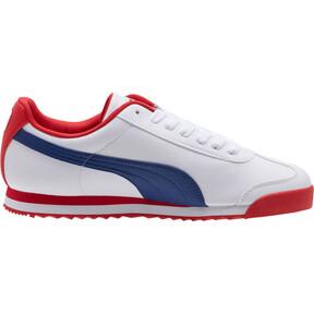 Thumbnail 3 of Roma Basic CDG Men's Sneakers, White-Limoges-High Risk Red, medium