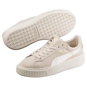 Thumbnail 2 of Suede Summer Satin Platform Sneakers, 02, medium