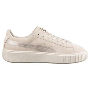 Thumbnail 3 of Suede Summer Satin Platform Sneakers, 02, medium