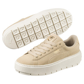 Thumbnail 2 of Platform Trace Women's Sneakers, Safari-Marshmallow, medium