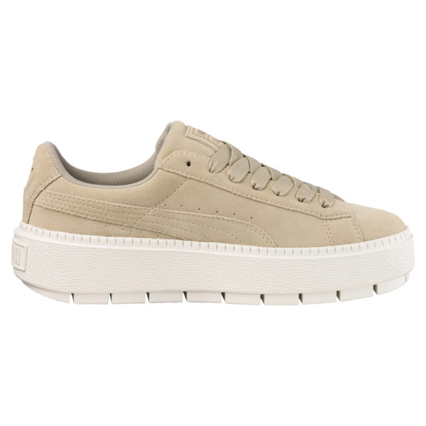 Platform Trace Women's Sneakers, Safari-Marshmallow, large