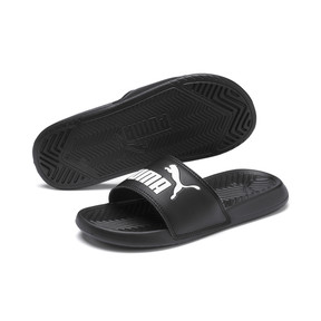 Thumbnail 2 of Popcat Youth Sandal, Puma Black-Puma White, medium