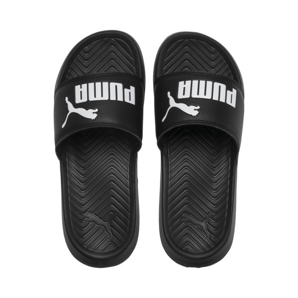 Popcat Youth Sandal, Puma Black-Puma White, large