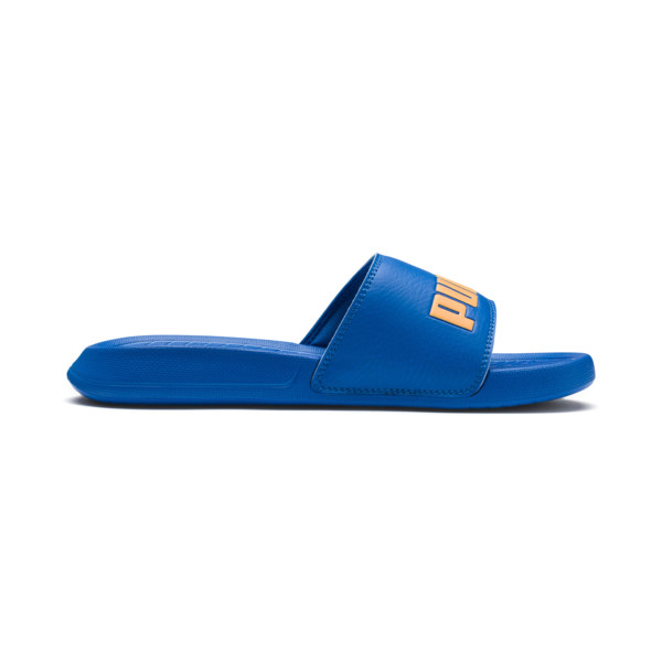 Popcat Youth Sandal, Indigo Bunting-Orange Pop, large