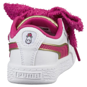 Thumbnail 4 of Minions Basket Heart Fluffy Infant Sneakers, White-Beetroot Purple-Gold, medium