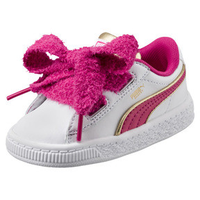 Thumbnail 1 of Minions Basket Heart Fluffy Infant Sneakers, White-Beetroot Purple-Gold, medium