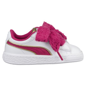 Thumbnail 3 of Minions Basket Heart Fluffy Infant Sneakers, White-Beetroot Purple-Gold, medium