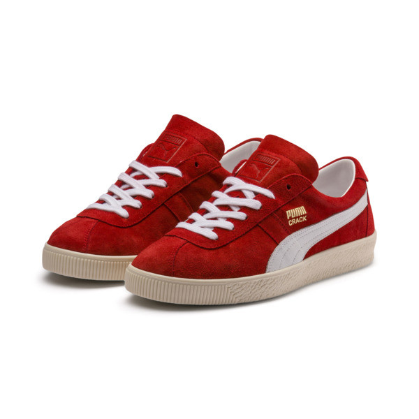 Puma Crack Heritage Trainers, High Risk Red-Puma White, large