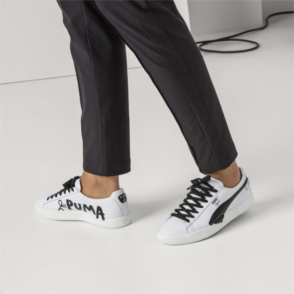the best attitude af976 5ac1b PUMA x SHANTELL MARTIN Clyde Sneakers, Puma White-Puma Black, large. ‹ ›