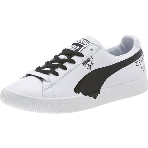 PUMA x SHANTELL MARTIN Clyde Sneakers, Puma White-Puma Black, large