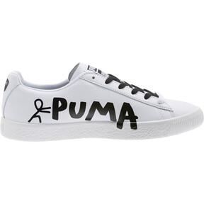 Thumbnail 3 of PUMA x SHANTELL MARTIN Clyde Sneakers, Puma White-Puma Black, medium