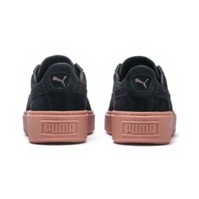 Thumbnail 4 of Platform Sunfaded Stitch Women's Sneakers, Puma Black-Peach Beige, medium