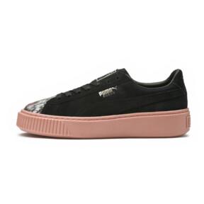 Thumbnail 6 of Platform Sunfaded Stitch Women's Sneakers, Puma Black-Peach Beige, medium