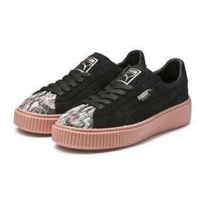 Thumbnail 2 of Platform Sunfaded Stitch Women's Sneakers, Puma Black-Peach Beige, medium