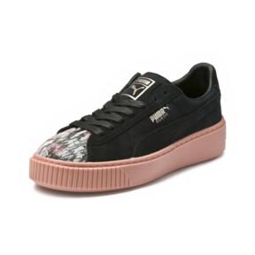 Thumbnail 1 of Platform Sunfaded Stitch Women's Sneakers, Puma Black-Peach Beige, medium