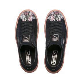 Thumbnail 5 of Platform Sunfaded Stitch Women's Sneakers, Puma Black-Peach Beige, medium