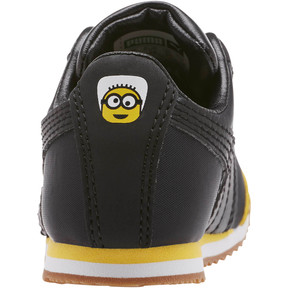 Thumbnail 4 of Minions Roma Toddler Shoes, Black-Minion Yellow-Black, medium
