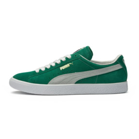 Thumbnail 6 of Suede 90681 Sneakers, Kelly Green-Puma White, medium