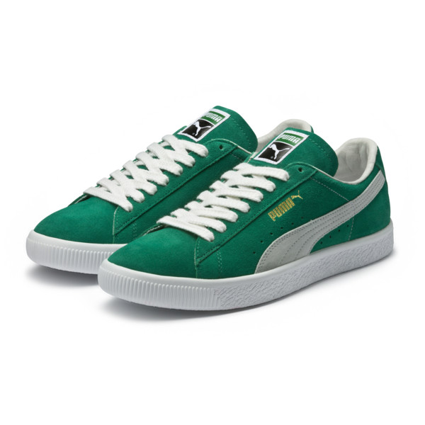 Zapatillas Suede 90681, Kelly Green-Puma White, grande