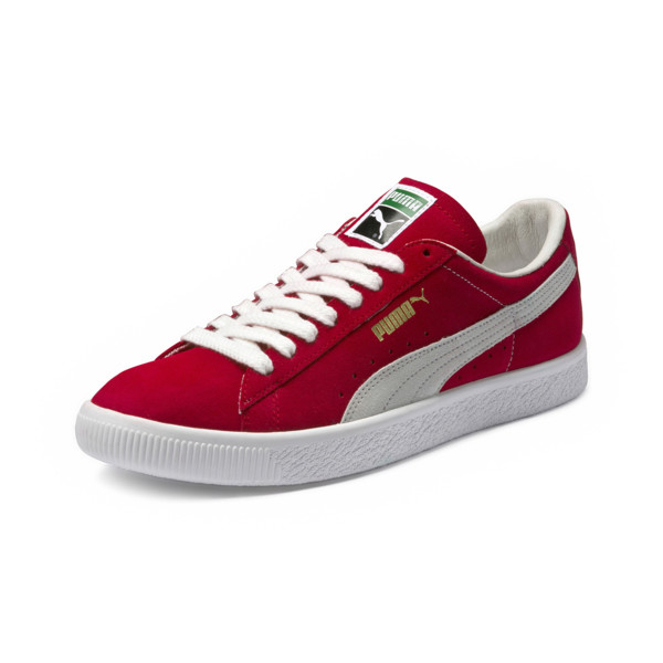 Suede 90681 Trainers, Ribbon Red-Puma White, large