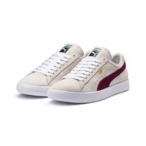 Thumbnail 2 of SUEDE 90681, Whisper Wht-Pomegran-Wht, medium-JPN