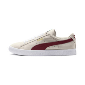 Thumbnail 1 of SUEDE 90681, Whisper Wht-Pomegran-Wht, medium-JPN