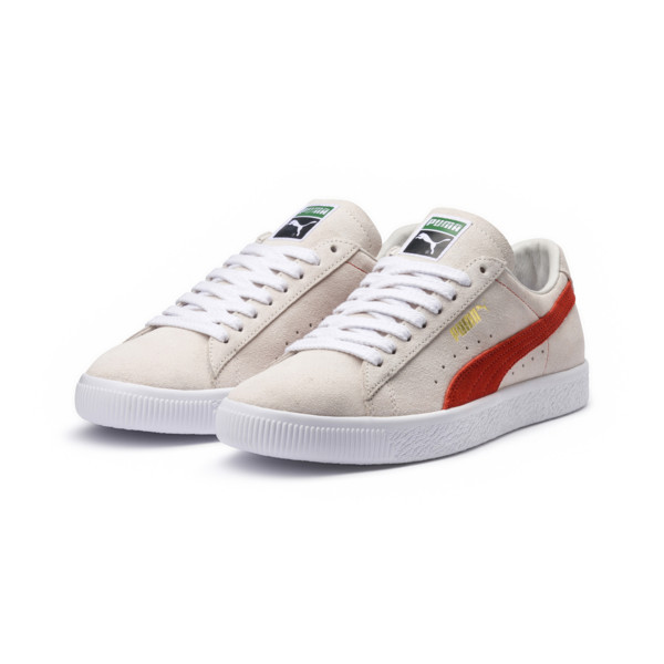 Suede 90681 Trainers, Whisper Wht-Orange.com- Wht, large