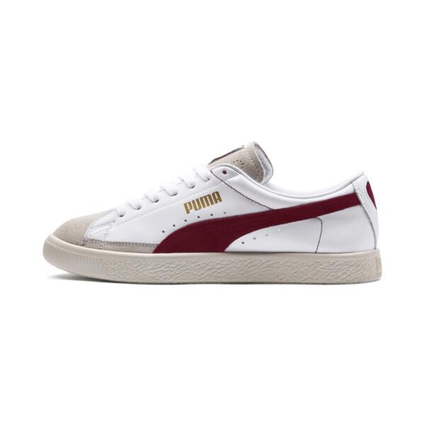 Basket 90680-sneakers, Puma White-Pomegranate, large