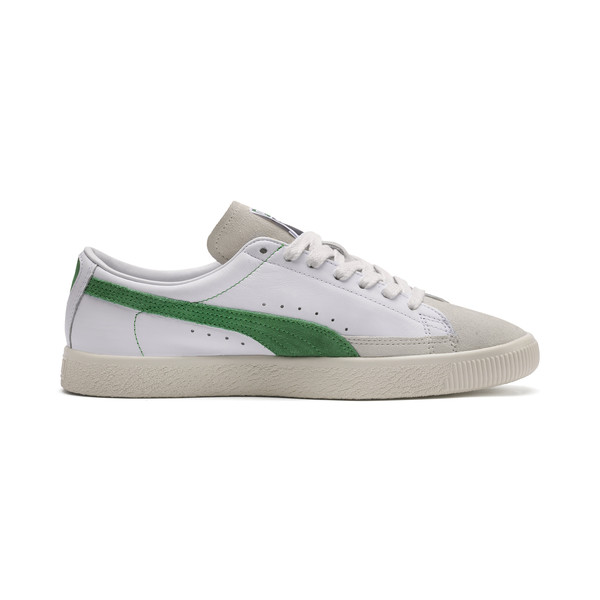 Basket 90680-sneakers, Puma White-Amazon Green, large