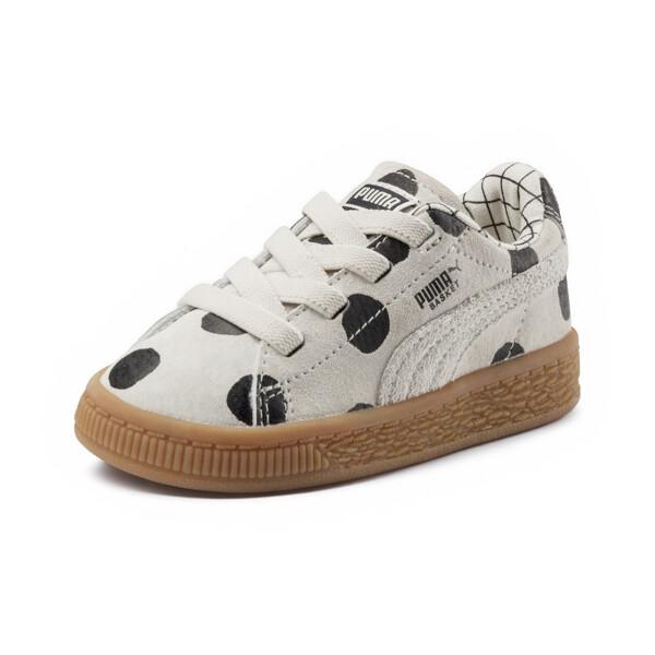 a6ee9c9a Dziecięce buty z nubuku PUMA x TINYCOTTONS Basket, kolor Birch-Puma Black,  obszerny