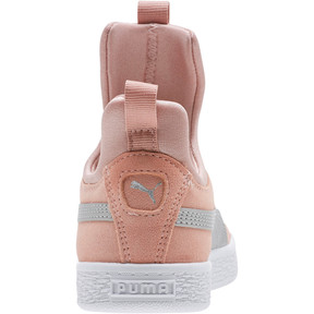 Thumbnail 4 of Suede Fierce AC Preschool Sneakers, Peach Beige-Metallic Beige, medium