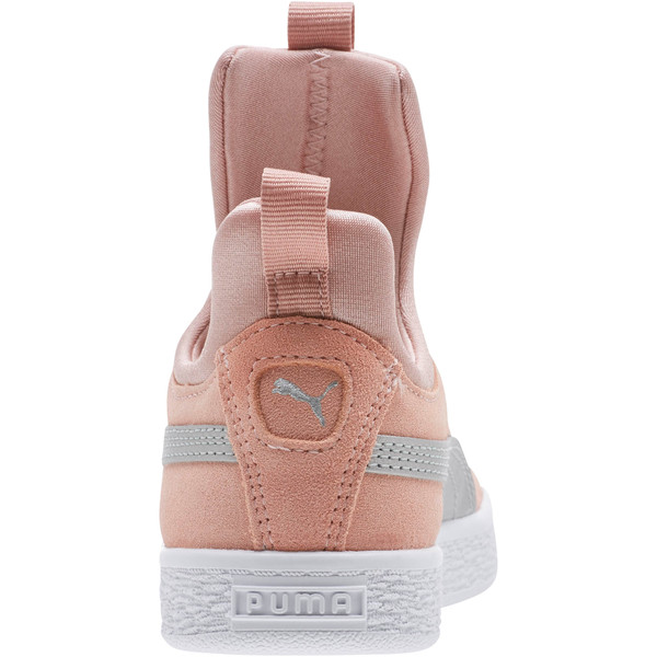 Suede Fierce AC Preschool Sneakers, Peach Beige-Metallic Beige, large