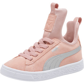 Thumbnail 1 of Suede Fierce AC Preschool Sneakers, Peach Beige-Metallic Beige, medium