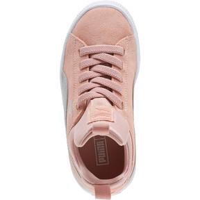 Thumbnail 5 of Suede Fierce AC Preschool Sneakers, Peach Beige-Metallic Beige, medium