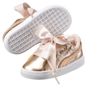 Thumbnail 2 of Basket Heart Lunar Lux Girls' Sneakers, Cream Tan, medium
