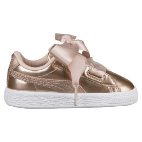 Thumbnail 3 of Basket Heart Lunar Lux Girls' Sneakers, Cream Tan, medium