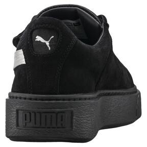 Thumbnail 4 of Platform Strap Satin EP Women's Sneakers, Puma Black-Puma Black, medium