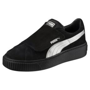 Thumbnail 1 of Platform Strap Satin EP Women's Sneakers, Puma Black-Puma Black, medium