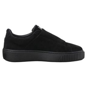 Thumbnail 3 of Platform Strap Satin EP Women's Sneakers, Puma Black-Puma Black, medium