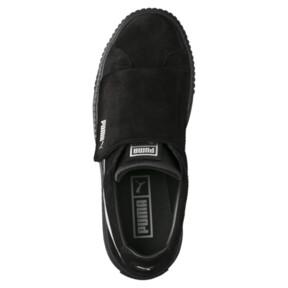 Thumbnail 5 of Platform Strap Satin EP Women's Sneakers, Puma Black-Puma Black, medium