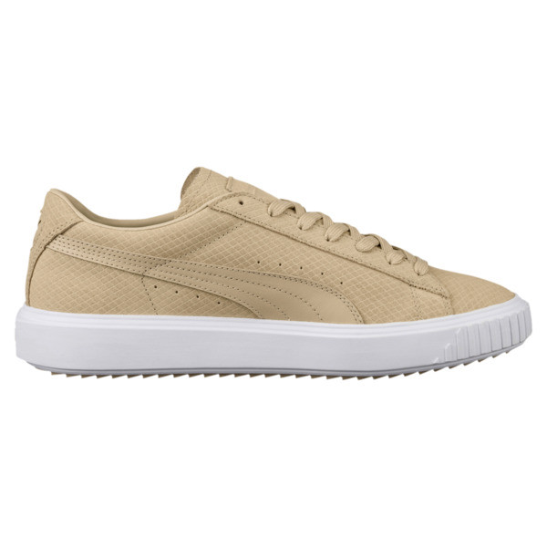 Suede Breaker Sneakers, Pebble, large