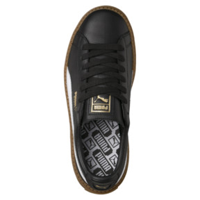 Thumbnail 5 of Platform Women's Trace Leather Sneakers, Puma Black-Puma White, medium