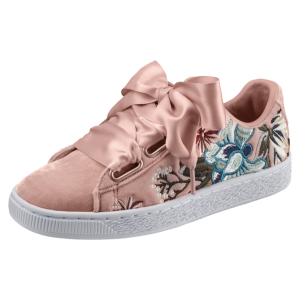 Basket Heart Hyper Women's Sneakers, Peach Beige, large