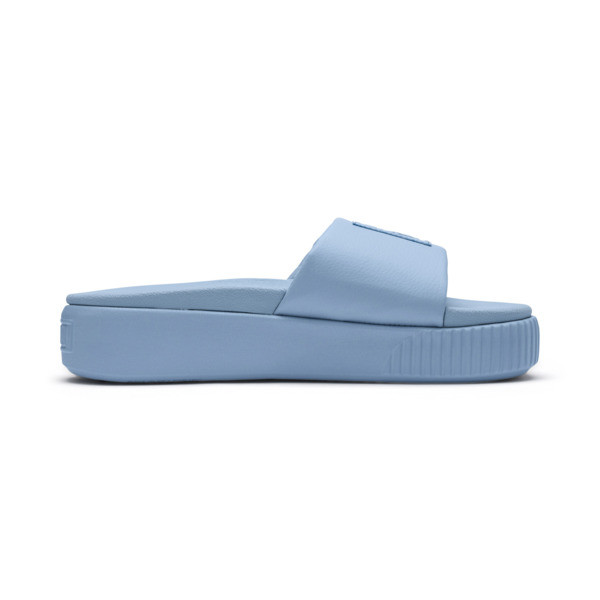 Platform Slide Women's Sandals, CERULEAN-Peacoat, large