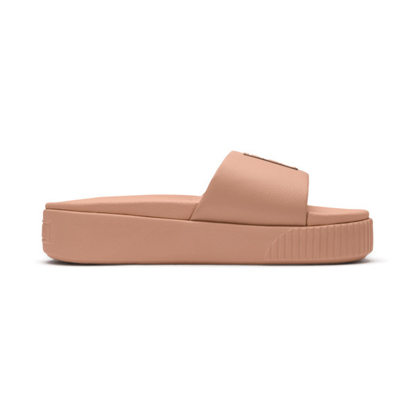Platform Slide Women's Sandals, Dusty Coral-Puma Black, large