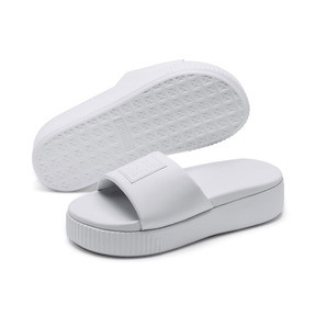 Thumbnail 2 of Platform Slide Women's Sandals, Puma White-Puma White, medium