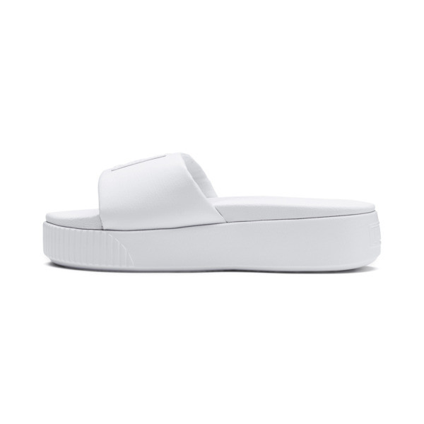 Platform Slide Women's Sandals, Puma White-Puma White, large