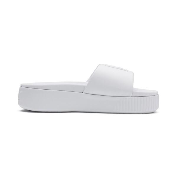 プラットフォーム スライド ウィメンズ サンダル, Puma White-Puma White, large-JPN