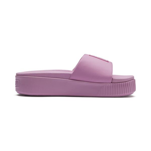 Platform Slide Women's Sandals, Pale Pink-Pale Pink, large
