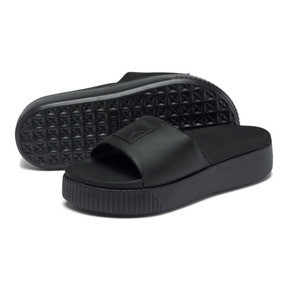 Miniatura 2 de Sandalias con plataforma Slide para mujer, Puma Black-Puma Black, mediano